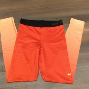 Nike ombré orange leggings 2234